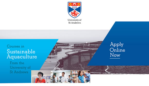 Sustainable Aquaculture Courses with the University of St Andrews - click for more details.