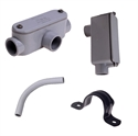 HogSlat - CONDUIT FITTINGS, JUNCTIONS & STRAPS