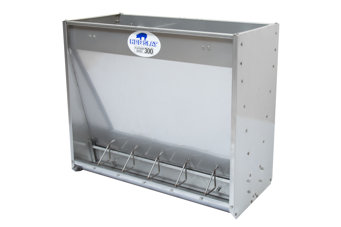 Hog Slat Nursery Pig Feeder: Double-sided 6-space Platinum Series 300