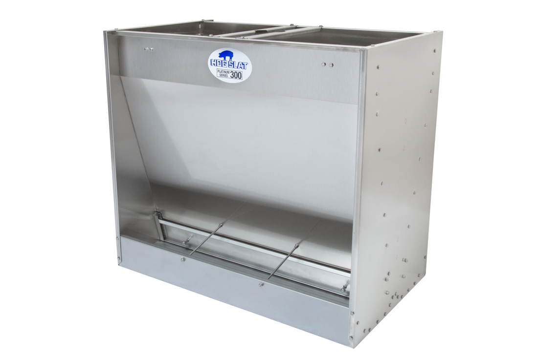 Hog Slat Finishing Feeder- Double-sided 3-space Platinum Series 300