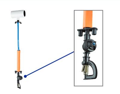 Sprinkler drop assemblies operate under low-pressure and produce large water droplets that stimulate poultry to stand and release trapped heat underneath their bodies.