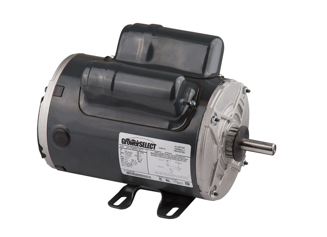 GrowerSELECT® single speed fan motors are designed and manufactured to excel at operating exhaust fans on swine and poultry farms.