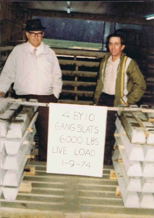 Hog Slat - Dick Jordan on the left and Hog Slat founder, Billy Herring