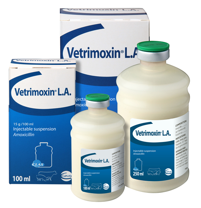 VETRIMOXIN<sup>®</sup> L.A. in new CLAS Packaging