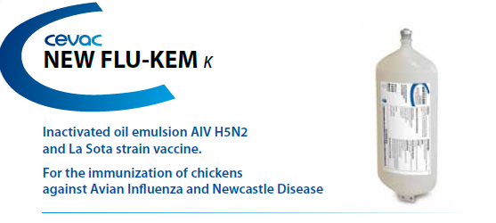 CEVAC NEW-FLU KEM® - for the immunisation of chickens against Newcastle Disease and Avian Influenza