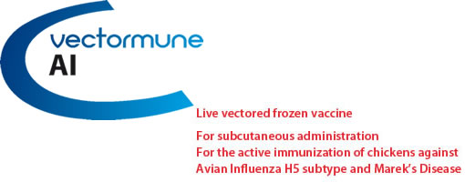 VECTORMUNE ® AI: Live vectored frozen vaccine.