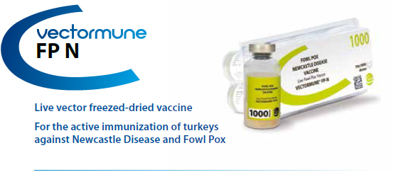 VECTORMUNE® FP N - For the active immunization of Turkey against Fowl Pox and Newcastle Disease from CEVA SANTE ANIMALE