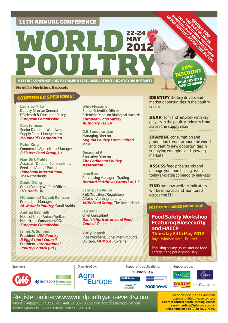 World Poultry - 11th Annual Conference - May 2012
