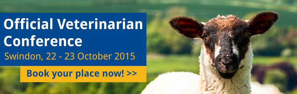 Official Veterinarian Conference Swindon, 22 - 23 October 2015