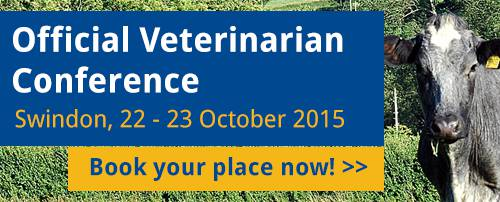 Official Veterinarian Conference - Swindon, 22 - 23 October 2015 Book your place now