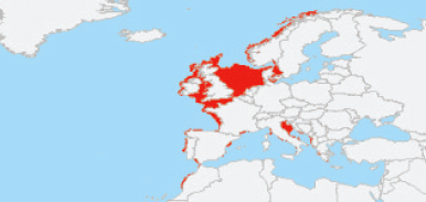 The distribution of the brown crab (Cancer pagurus). Source: Food and Agriculture Organization of United Nations (FAO)