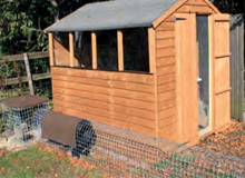 Shed conversion to hutch