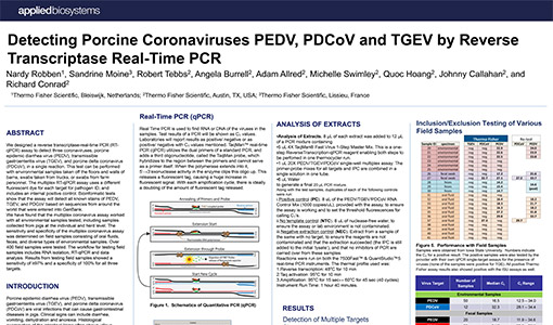 Thermo Fisher Scientific - Detecting Porcine Coronaviruses by Reverse Transcriptase Real-Time PCR
