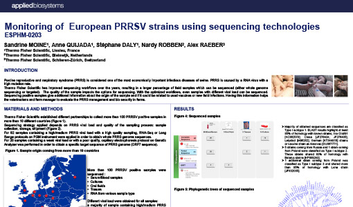 Thermo Fisher Scientific - Monitoring of European PRRSV strains using sequencing technologies