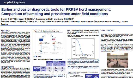 Life Technologies - ASFV PCR - Earlier and easier diagnostic tools for PRRSV herd management